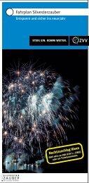 ZVV-Broschüre Fahrplan Silvesterzauber 2013/14 - Ausflugstipps