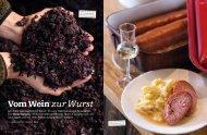 Vom Wein zur Wurst - Treberwurst im Schlössli Ligerz Schafis ...