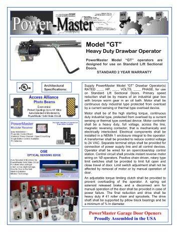 """Model """"GT"""" Heavy Duty Drawbar Operator - Gate Openers"""