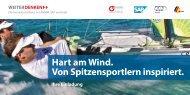 Hart am Wind. Von Spitzensportlern inspiriert. - Mittelstand in Bayern