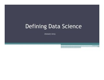 Defining Data Science