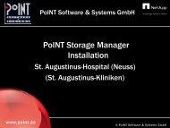 Presentation Installation St. Augustinus-Kliniken - PoINT Software ...
