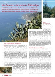 Islas Canarias – die Inseln der Glückseeligen - MAR Y SOL