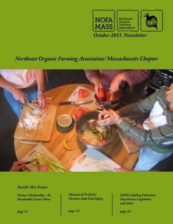 2013 October Newsletter - Northeast Organic Farming Association