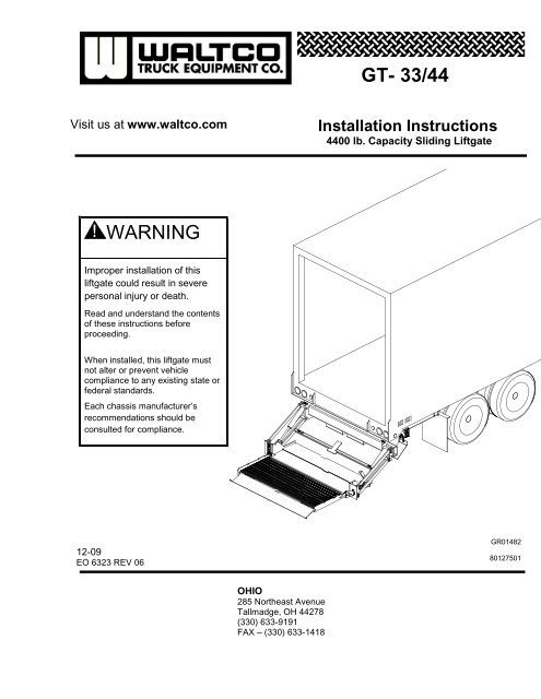 chapter 4 liftgate installation - plm trailer leasing  thieman conventional liftgate  diagrams