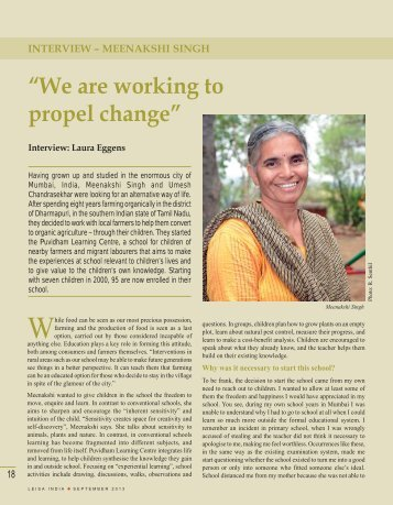 "Interview: Meenakshi Singh: ""We are working to propel ... - Leisa India"