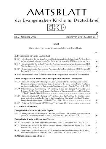 Nr. 3, Jahrgang 2013 Hannover, den 15. März ... - Kirchenrecht EKD