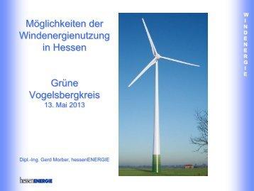 Windenergienutzung in Hessen - Grüne Vogelsberg