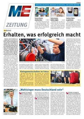 M+E-Zeitung 3/2013 - Niedersachsen Metall