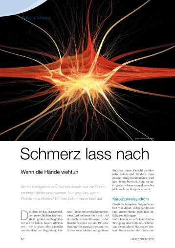 Schmerz lass nach - Dr. med. Karl Schuhmann