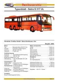 Typenblatt - Setra S 317 UL - Omnibus
