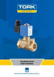solenoıd valve user's manual - Sms-Tork