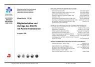 Mitgliedschaften und Verträge mit Partnerverbänden