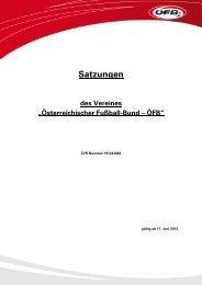 Satzungen des ÖFB (gültig ab 17. Juni 2013)