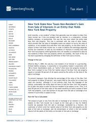 New York State Now Taxes Non-Resident's Gain from Sale of ...