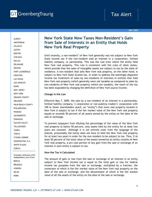 Nys Sales Tax Calculator >> New York State Now Taxes Non Resident S Gain From Sale Of