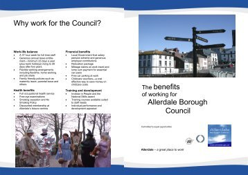 Benefits of Working for Allerdale - Allerdale Borough Council