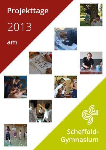 Projekttage - am Scheffold-Gymnasium