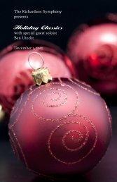Holiday Classics - The Richardson Symphony Orchestra