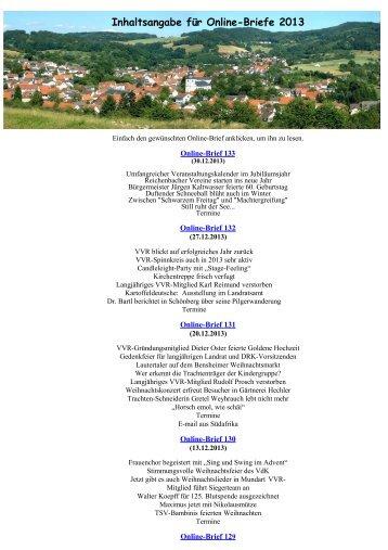 131 aus dem Jahr 2013 - Verschönerungsverein Reichenbach