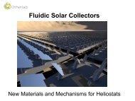 Fluidic Solar Collectors New Materials and Mechanisms for ... - EERE