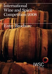 International Wine and Spirit Competition 2008 Entry Brochure