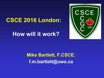 Presentations - London & District CSCE-CGS