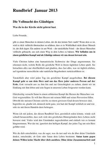 Rundbrief Januar 2013 - Andrew Wommack