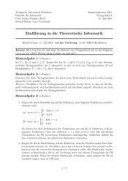 Einführung in die Theoretische Informatik - Technische Universität ...