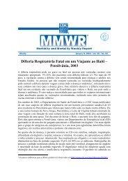 Difteria Respiratória Fatal em um Viajante ao Haiti ... - Livros Grátis