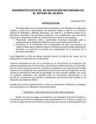 diagnóstico estatal de educación secundaria en el estado de jalisco