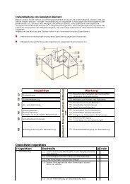 Inspektion Wartung Checkliste Inspektion Inspektion Dachteile ja nein