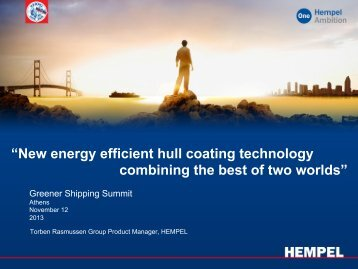 """""""New energy efficient hull coating technology combining the best of ..."""