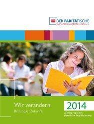 Download Jahresprogramm 2014 - Paritätische Akademie LV NRW ...