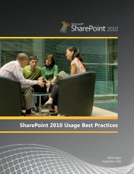 SharePoint 2010 Usage Best Practices | White Paper - Simple ...