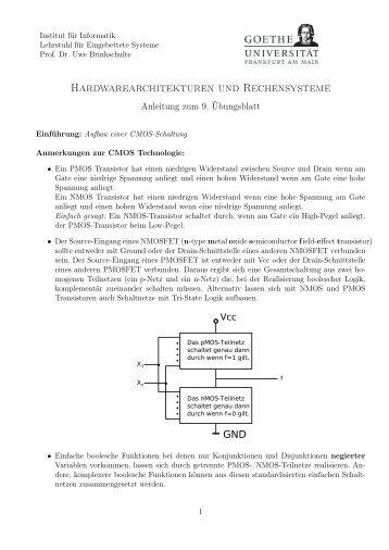 Hardwarearchitekturen und Rechensysteme - Eingebettete Systeme