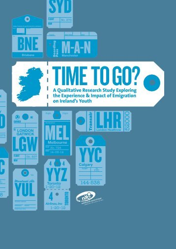 Time To Go? - National Youth Council of Ireland