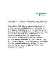 20131206 AR2144 and AR2145 Seismic ... - Schneider Electric