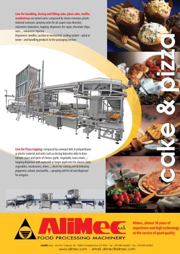 Alimec, almost 30 years of experience and high ... - TecnAlimentaria