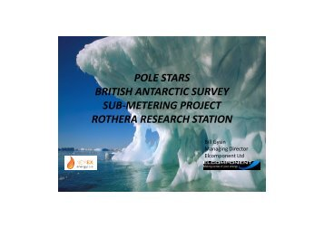 pole stars british antarctic survey sub-metering project rothera ...