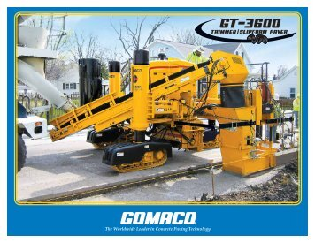 Download The GT-3600 Brochure - GOMACO Corporation