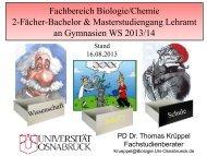 Fachbereich Biologie/Chemie 2-Fächer-Bachelor ...