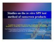 Studies on the in vitro SPF test method of sunscreen ... - Optometrics