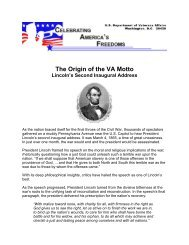 The Origin of the VA Motto - US Department of Veterans Affairs