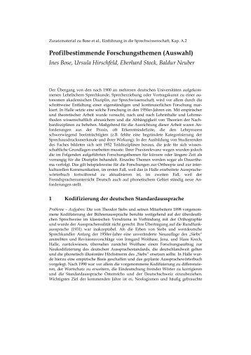 A2 Profilbestimmende Forschungsthemen - Narr.de