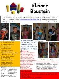 Kleiner Baustein, Ausgabe 2010/2011 Nr. 1 - CARITAS-SCHULE St ...