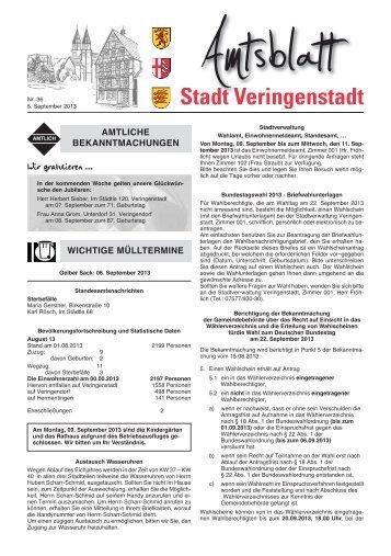 Amtsblatt KW 36 - Veringenstadt