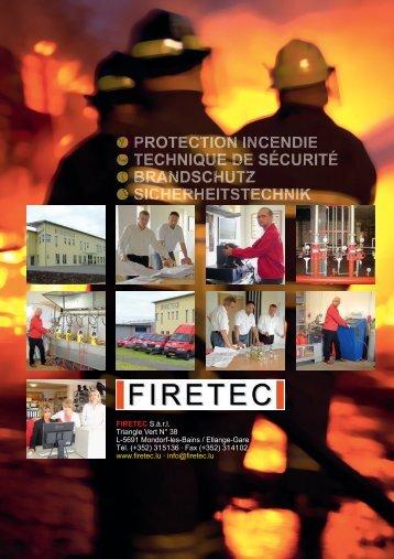 PROTECTION INCENDIE TECHNIQUE DE ... - firetec.lu » Home