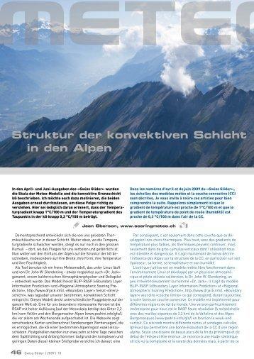 Struktur der konvektiven Schicht in den Alpen - Soaringmeteo
