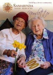 Download the 2013 Winter Newsletter - Samarinda Aged Services